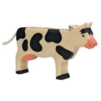 Cow, standing, black - Holztiger 80003