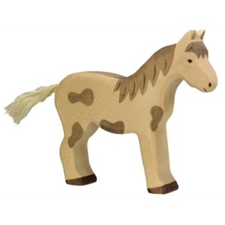 Holztiger Horse (Standing Dappled) (80037) Animal Figure | LeVida Toys