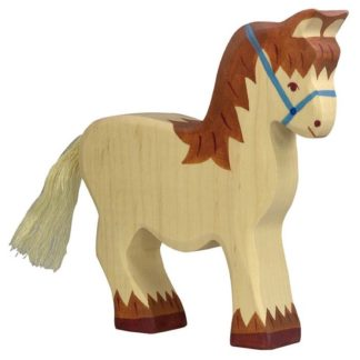 Holztiger Cart Horse (80038) Wooden Animal Figure | LeVida Toys