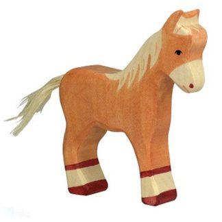 Foal, standing, light brown - Holztiger 80040
