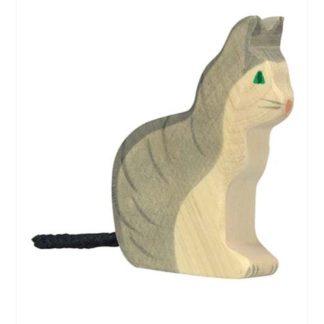 Cat, sitting - Holztiger 80055