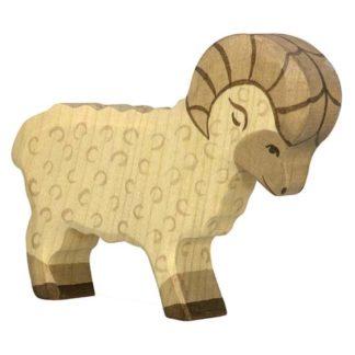 Holztiger Ram (80071) Wooden Sheep Figure | LeVida Toys