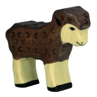 Holztiger Lamb (black) (80078) Wooden Animal Figure | LeVida Toys