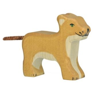 Lion, small standing - Holztiger 80141