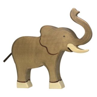 Elephant, trunk raised - Holztiger 80148