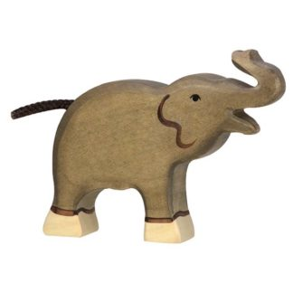 Elephant, small trunk raised - Holztiger 80150
