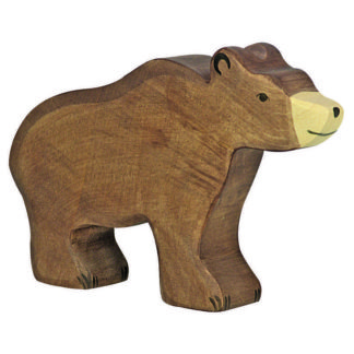 Holztiger Brown Bear (80183) Wooden Animal Figure | LeVida Toys