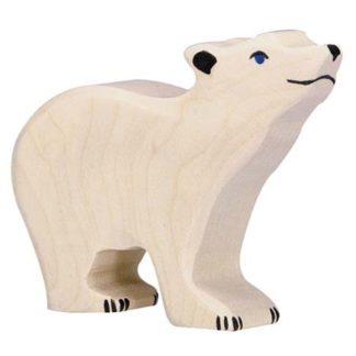 Polar Bear, small head raised - Holztiger 80209