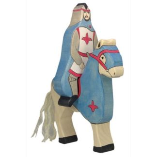 Riding Knight with Cloak, Blue (without horse) - Holztiger 80247