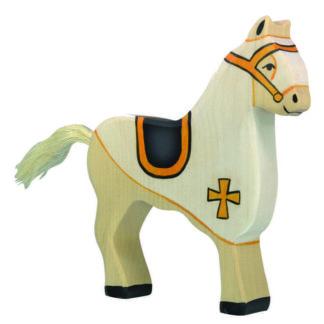 Tournament Horse, White - Holztiger 80251