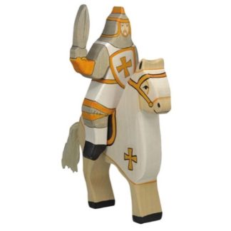 Tournament Knight, White (without horse) - Holztiger 80256