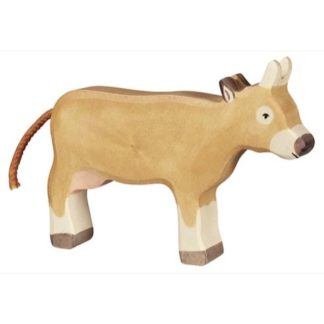 Cow, standing brown - Holztiger 80553