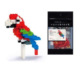 Red and Green Macaw - Nanoblock NBC-034