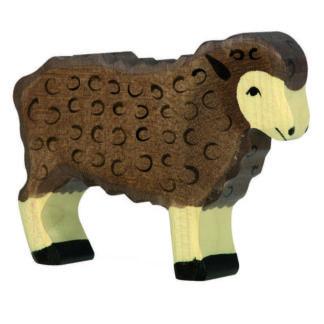 Sheep, standing black - Holztiger 80075