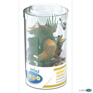 Papo Mini Tub Wild Animals Set 1 Wild Animal Kingdom figure - Papo 33020