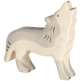 Holztiger Wolf, howling (80109) - Wooden Toy Figure | LeVida Toys