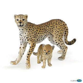 Papo Cheetah with Cub Wild Animal Kingdom figure - Papo 50044