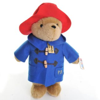 Classic Cuddly Paddington Bear (Large) Blue Coat - Rainbow Designs