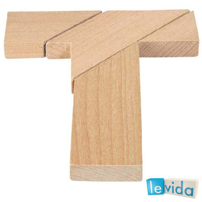 The T Shape - Wooden Puzzle by Goki