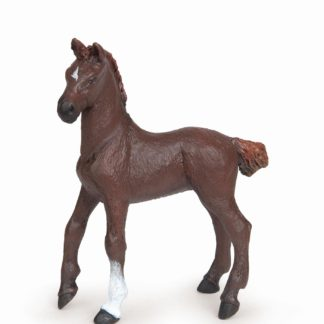 Dark Alezan English Thoroughbred Foal - Papo 51536
