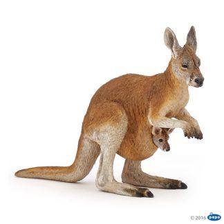 Papo Kangaroo with Joey Wild Animal Kingdom figure - Papo 50188