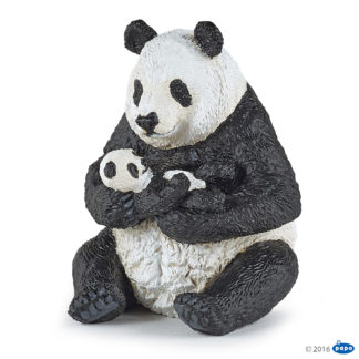 Papo Sitting Panda and Baby Wild Animal Kingdom figure - Papo 50196
