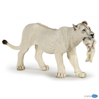 Papo White Lioness with Cub Wild Animal Kingdom figure - Papo 50203