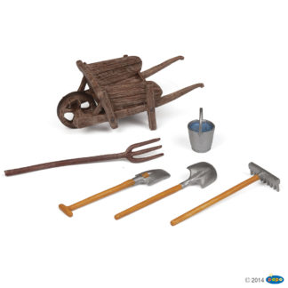 Papo Wheelbarrow and Tools Set - Farmyard Friends 51140