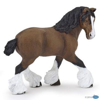 Papo Bay Shire Horse Mare - Wild Animal Kingdom - 51552
