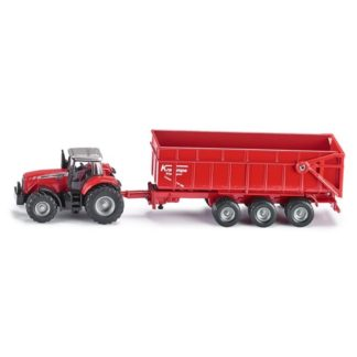 1:87 Massey Ferguson Tractor with Trailer - Siku 1844