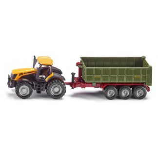 1:87 JCB Tractor with Hooklift Trailer - Siku 1855