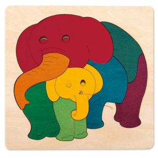George Luck Rainbow Elephant & Baby Puzzle - E6505