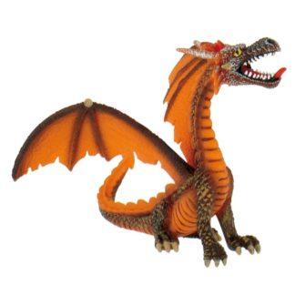 Dragon Sitting Orange - Bullyland 75595