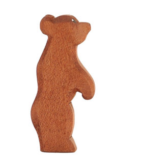 Ostheimer Bear small standing wooden toy figure - Ostheimer 22002