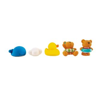 Hape Teddy and Friends Bath Squirts - E0201 | LeVida Toys
