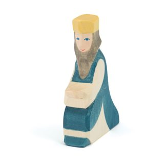Ostheimer King Blue II wooden nativity figure - 42182 | LeVida Toys