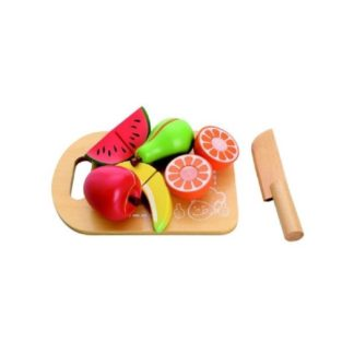 Mamamemo Fruit Cutting Board Play Food Set | LeVida Toys
