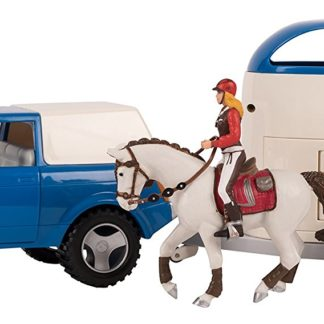Papo 4x4 Off-Road Car and Horse Van Set - Model 80311 | LeVida Toys