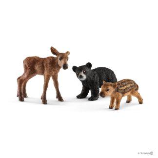 Schleich Forest Animal Babies Wild Life Playset - 41457 | LeVida Toys