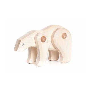Bajo Polar Bear - wooden toy with moveable limbs | LeVida Toys