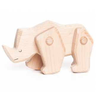 Bajo Rhinoceros - wooden toy with moveable limbs | LeVida Toys