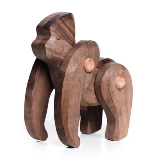 Bajo Gorilla - wooden toy with moveable limbs | LeVida Toys