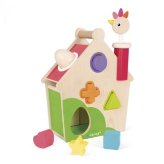 Janod Zigaloo Hen Activities House - Wooden Toy | LeVida Toys