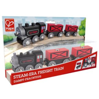 Wooden Railway - Hape Steam-Era Freight Train | LeVida Toys