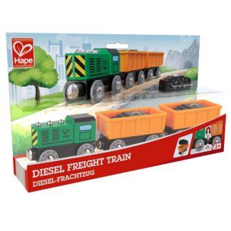 Wooden Railway - Hape Diesel Freight Train | LeVida Toys