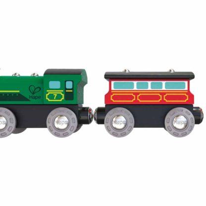 Wooden Railway - Hape Steam-Era Passenger Train | LeVida Toys