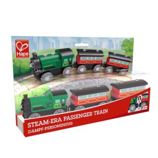 Wooden Railway - Hape Steam-Era Passenger Train | LeVida Toys