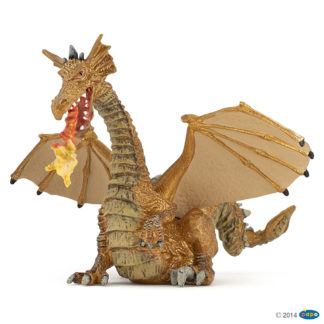 Papo Gold Dragon with Flame - Fantasy World - 39095 | LeVida Toys