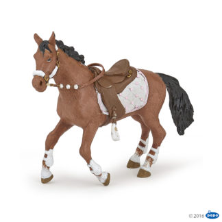 Papo Winter Riding Girl Horse - Papo 51553 | LeVida Toys