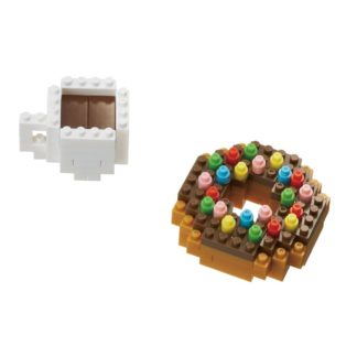 nanoblock Mini Collection Donut & Coffee (NBC-246) | LeVida Toys